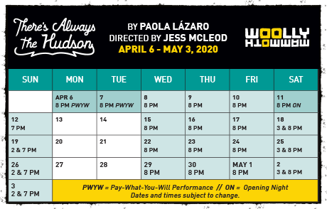 THERE'S ALWAYS THE HUDSON performance calendar